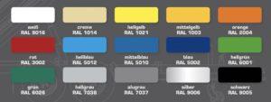 RAL-Farben für Plane